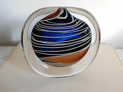 Peter Layton Glass Stoneform Ariel Pattern - signed