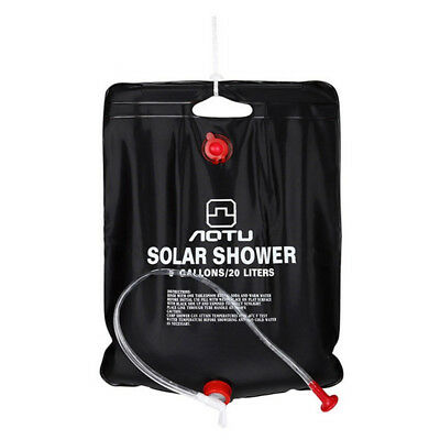 AUTO 20L Solar Energy Camping Shower Hot Water Bag 45 Celsius for Camping Hik SS