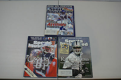SPORTS ILLUSTRATED MAGAZINE Lot Of 3 Randy Moss Vikings Patriots Raiders