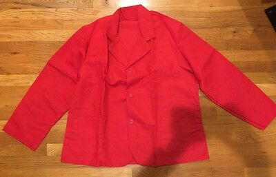 Red Counter/Cook Uniform Coat PST Style 509 PolyCotton Size 44 New Unisex