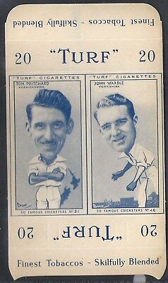 Carreras-Uncut Double Turf Slide-Famous Cricket-#21#46- Warwickshire - Yorkshire