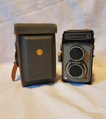 Vintage Yashica A TLR 6X6 Camera f3.5 80mm Rare Grey - Excellent!
