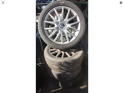 VW golf mag set of 4 wheels 5 STUDS R17""