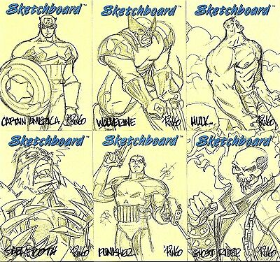 1998 Marvel Creators Collection MCC98 SKETCHBOARD SET (23) - YELLOW