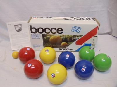 NEW Sportcraft Bocce Ball Set Model 1095 Lawn Bowling Game Made in Italy