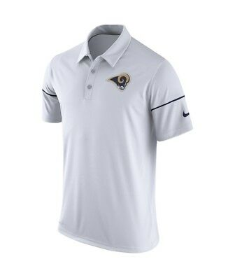 cfe93dc46b8a Nike Los Angeles Rams White Team Issue Dri-Fit Polo Men s Size Xl  nwt