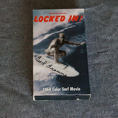 Signed Bud Browne Locked In VHS from show at the Surf Gallery