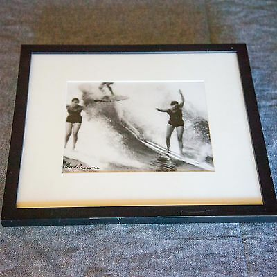 Bud Browne Signed Woman Photo print framed from art show at Surf Gallery Laguna