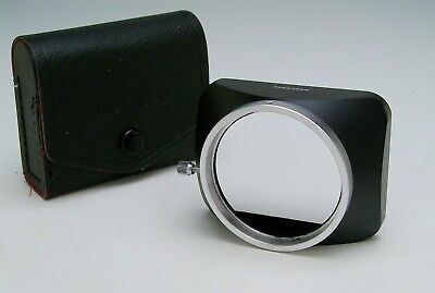 Konica lens hood for 24mm or 28mm Hexanon lenses, with case excellent condition