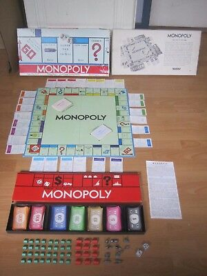 Monopoly Board Game - Parker Brothers - 1961 - Complete
