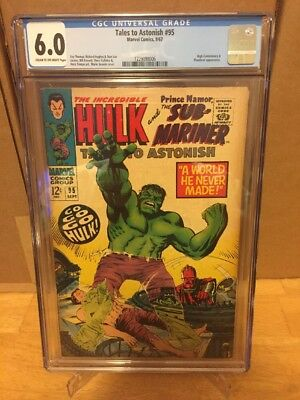Tales To Astonish 95 CGC #95! The Incredible Hulk! Stan Lee Story Herb Trimpe!