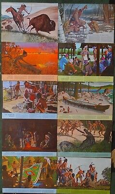 10 RARE Vintage 1960-1964 Native American Indian GM Pontiac Dealer Ad Posters