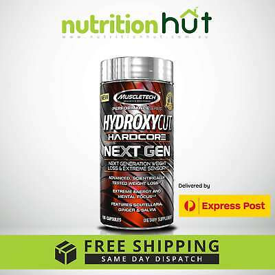 MuscleTech Hydroxycut Hardcore Next Gen 100 Capsules Fat Burner Weight Loss