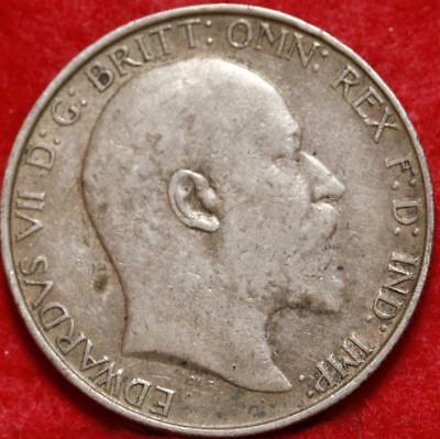 1910 Great Britain 2 Shilling Silver Foreign Coin Free S/H