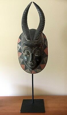 Polychrome African Guro Wooden Mask