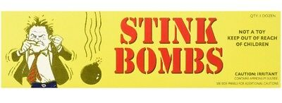 36 Stink Bombs-3 Glass Vials Per Box Stinky and Smelly Novelty