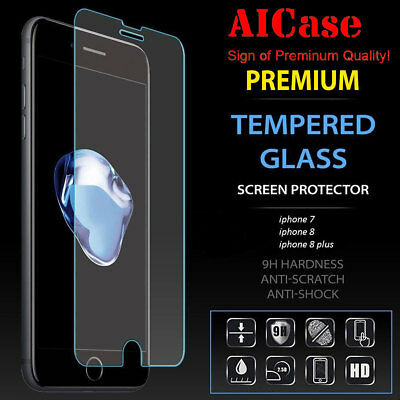Premium Real Tempered Glass Screen Protector for Apple iPhone 7 8 Plus