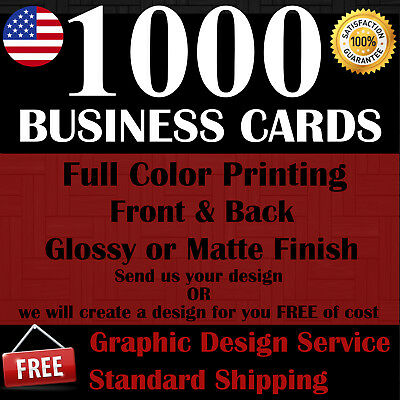1000 Custom Business Cards | Full Color | Free Shipping | Free Design Service