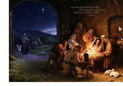 Gorgeous! Inspirational Religious Deluxe Christmas Card Decorated Interior (4)