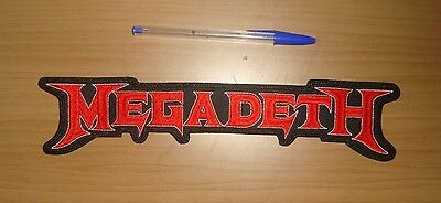 MEGADETH - LARGE LOGO Embroidered BACK PATCH Anthrax Metallica Slayer Exodus