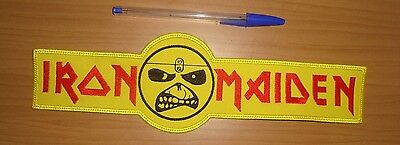 IRON MAIDEN - LARGE LOGO Embroidered BACK PATCH  EDDIE