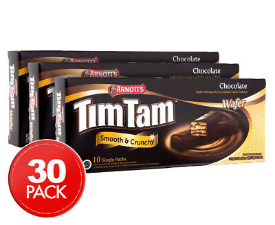 3 x Arnott's Tim Tam Chocolate Wafers 10pk 77.5g
