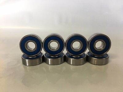 8 x ABEC-9 Chromium Steel Scooter / Skateboard Bearings BLUE