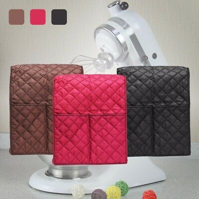 3 Color Quilted Pocket Blender Cloth Mixer Cover + Organizer Bag For Kitchenaid