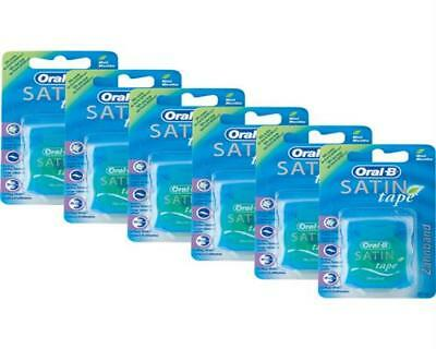 Oral-B SATIN tape Zahnseide 25 m Mint 6er Pack