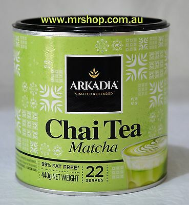 1 x Arkadia Matcha Green Tea Latte 440g P.H INCLUDED-BUY online mRshop $21.90