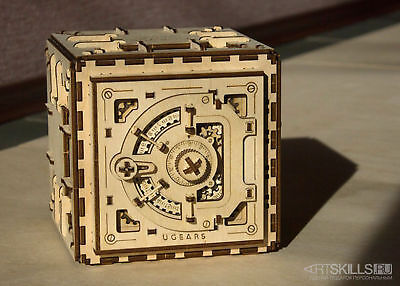 "Mechanical 3D puzzle ""Safe"" It's a real safe with a combination lock on the 3 di"