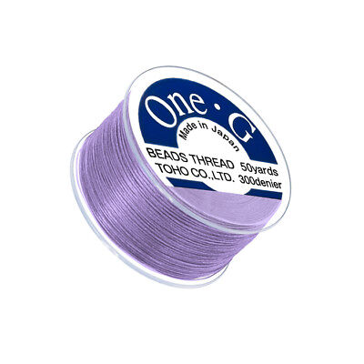Q107//1 Toho One-G Nylon Beading Thread 0.2mm Mauve 250yd Reel