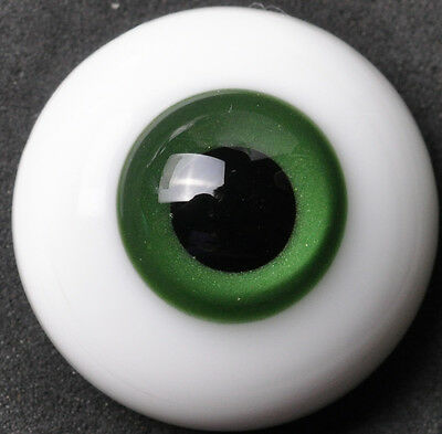 Nice DeepGreen Iris thin FlatBack  Glass 22MM BJD Eyes for Reborn BJD Doll
