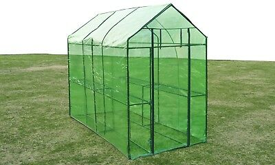 1.2X2.4X1.9M Walk In Greenhouse Garden Shade Green Plant House Shed PVC Cover