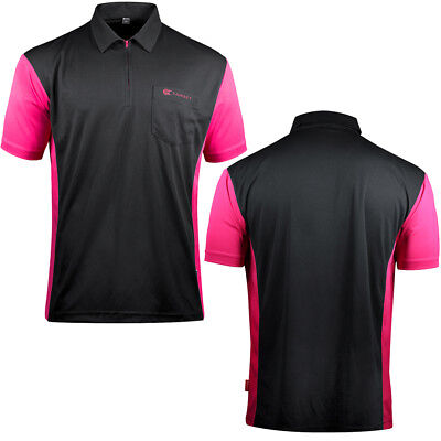 Target Cool Play 3 Dart Shirt - Breathable - Black with Dark Pink - Small - 5XL