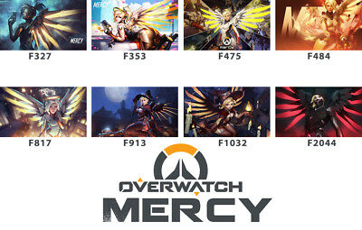 FREE MAT BAG Overwatch Mercy Playmat CCG Play Mat Work Mat Large Game Mouse Pad
