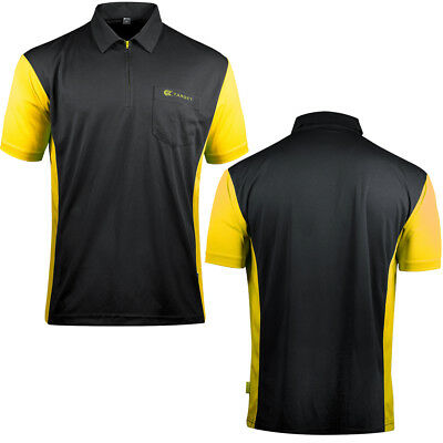 Target Cool Play 3 Dart Shirt - Breathable - Black with Yellow - Small - 5XL