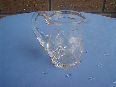 Stuart Crystal Jug Milk Cream Or Gravy Diamond Cut Design