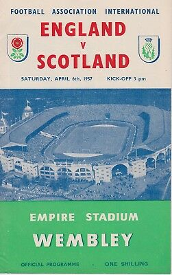 ENGLAND v SCOTLAND ~ 6 APRIL 1957 ~ HOME INTERNATIONAL