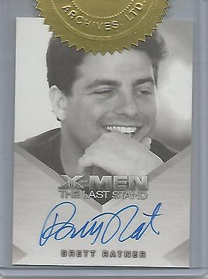"X-Men 3, The Last Stand - Brett Ratner ""Director"" Case Topper Autograph Card"