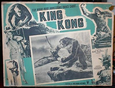 KING KONG, 1933, Set of 7 Lobby Cards, Early Classic, Fay Wray, Bruce Cabot