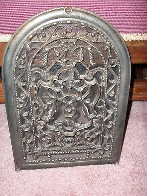 "Antique Original Ornate Arched Victorian cast iron vent cover metal grate 14""X10"