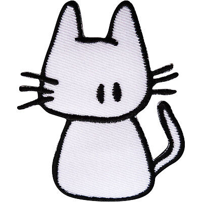 Cat Patch Iron Sew On Clothes Bag Embroidered Badge Animal Embroidery Applique