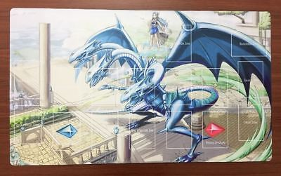 F2197n Free Mat Bag Blue Eyes Ultimate Dragon Playmat Yugioh TCG Play Mat Zones