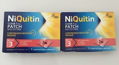NiQuitin patches step 3  - 14 clear patches  (2 weeks kit) Exp 2019