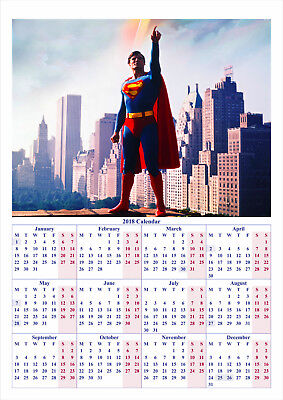 Superman The Movie V2 - 2018 A2 POSTER CALENDAR *LATEST BUY 1 GET 1 FREE OFFER*