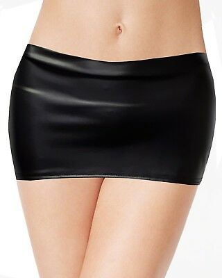 """NEW HOT& SEXY LADIES GIRLS JUST 8"""" LEATHER LOOK   MICRO MINI SKIRT SIZE 4 to 20"""