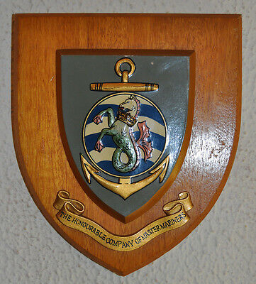 Honourable Company of Master Mariners wall plaque shield crest