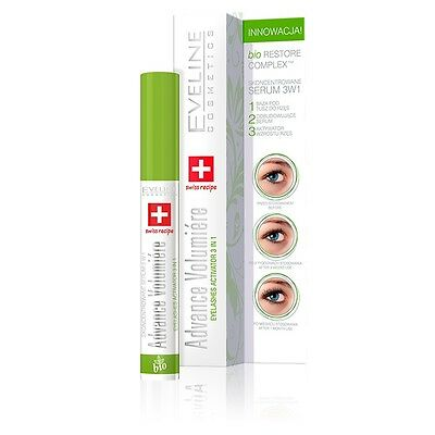 EVELINE EYELASHES CONCENTRATED SERUM 3 IN 1 ADVANCE VOLUMIERE 10ml revitalash