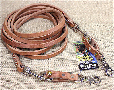 Weaver Hermann Oak Russet Leather Horse Tack Draw Reins Nickle Plated Snap